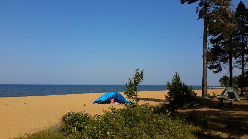 Семейный отдых в палатке
