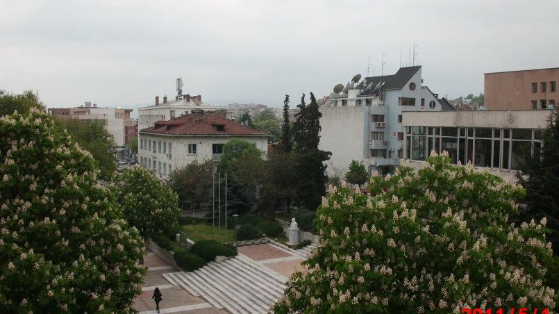 Вид сверху на площадь