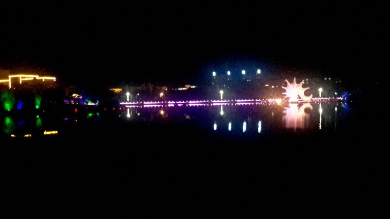 Вид на реку ночью