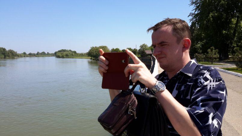 Селфи с рекой Протокой