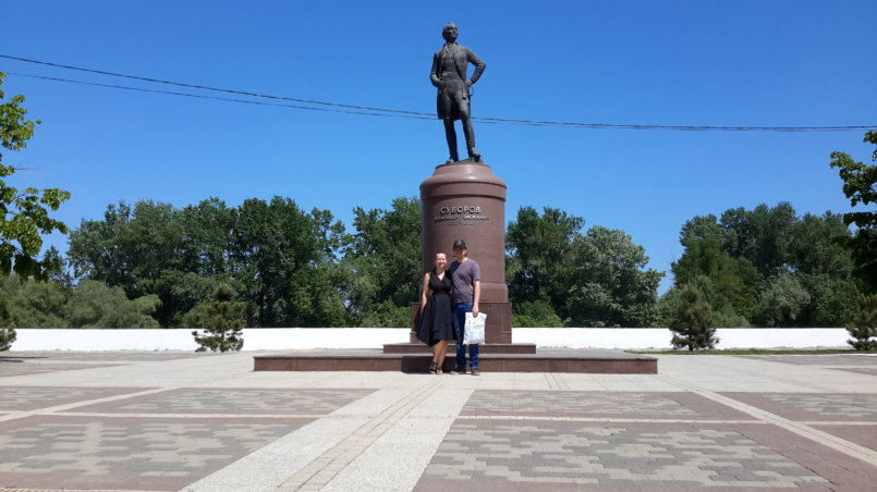 Памятник основателю города Суворову