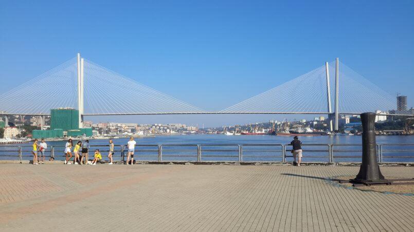 Вид на подвесной мост